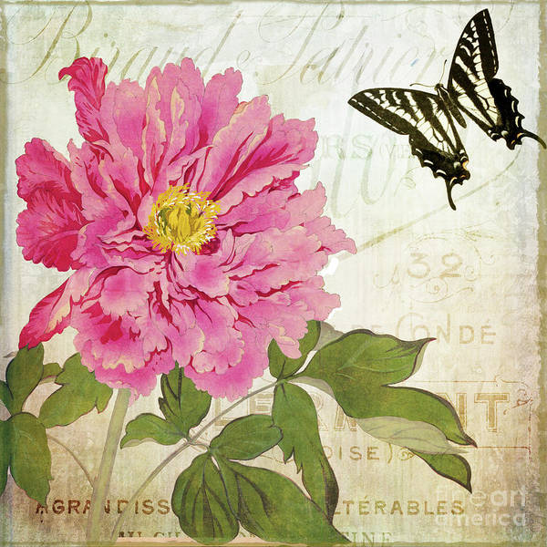Wall Art - Painting - Aja Peony by Mindy Sommers