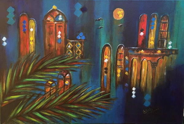 Baghdad Painting - Good Evening Baghdad by Siran Ajel