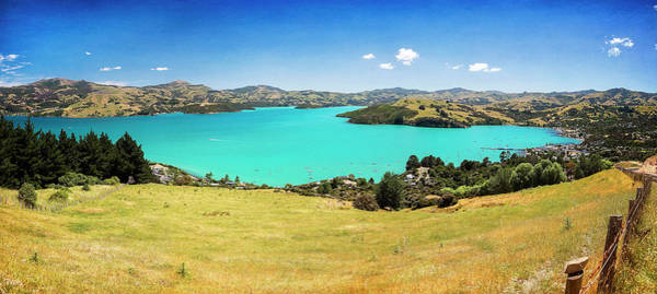 Photograph - Akaroa New Zealand Panorama by Joan Carroll