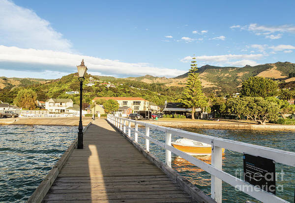 Photograph - Akaroa Village In The Banks Peninsula In New Zealand by Didier Marti
