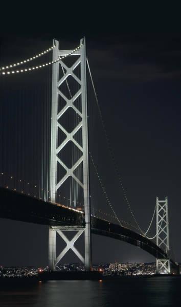 Wall Art - Photograph - Akashi Kaikyo Suspension Bridge - Japan by Daniel Hagerman