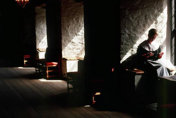 Photograph - Akerhus Woman Sewing by KG Thienemann