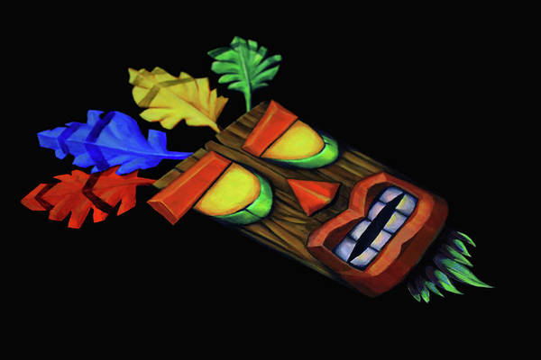 Videogame Painting - Aku Aku From Crash Bandicoot by Ana Djurkovic
