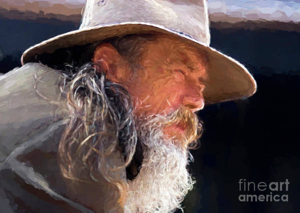 Impasto Photograph - Akubra Man As Painting by Sheila Smart Fine Art Photography