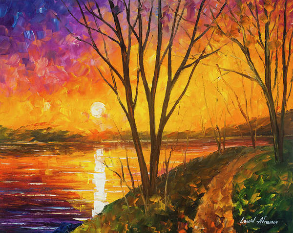 Wall Art - Painting -  Akumal Dreams  by Leonid Afremov