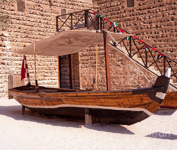 Wall Art - Photograph - Al Abra Transport Boat Used On Dubai Creek by Chris Smith