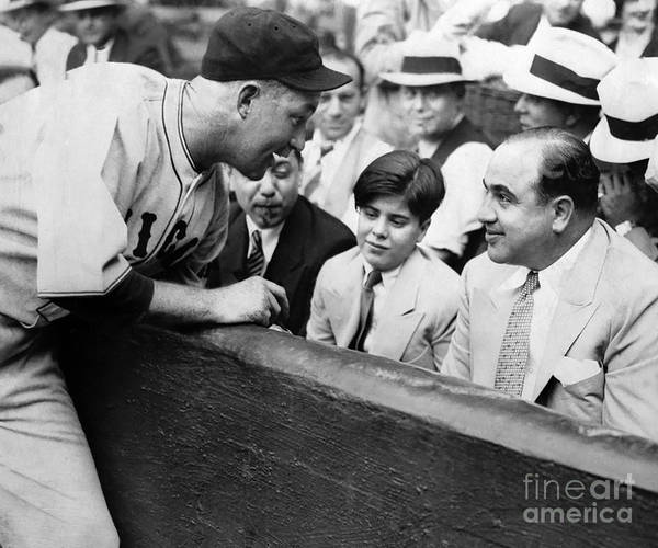 Wall Art - Photograph - Al Capone At The Cubs Game by Jon Neidert