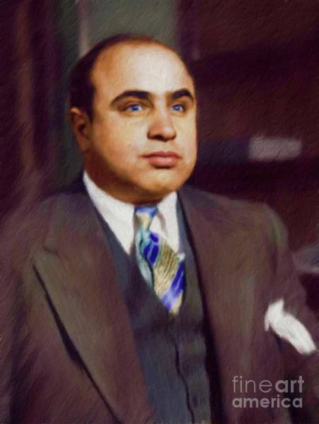 Wall Art - Painting - Al Capone, Infamous Gangster by Mary Bassett