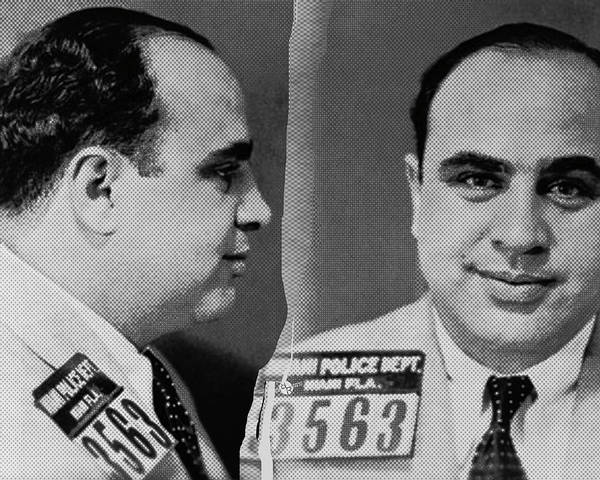 Photograph - Al Capone Mug Shot 1931 Horizontal 8x10 by Tony Rubino