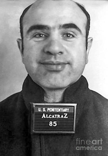 Wall Art - Photograph - Al Capone Mugshot At Alcatraz by Jon Neidert