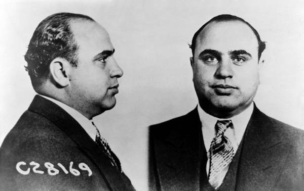 Wall Art - Photograph - Al Capone Mugshot by War Is Hell Store