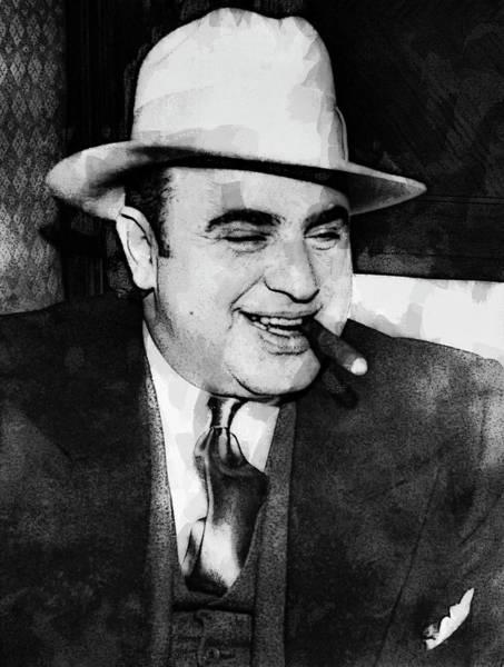 Wall Art - Digital Art - Al Capone Prohibition Boss Of Chicago by Daniel Hagerman