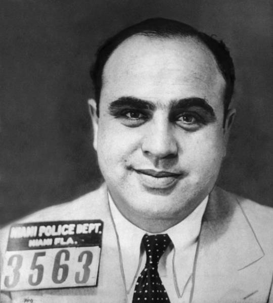 Wall Art - Photograph - Al Capone - The Original American Gangster by War Is Hell Store