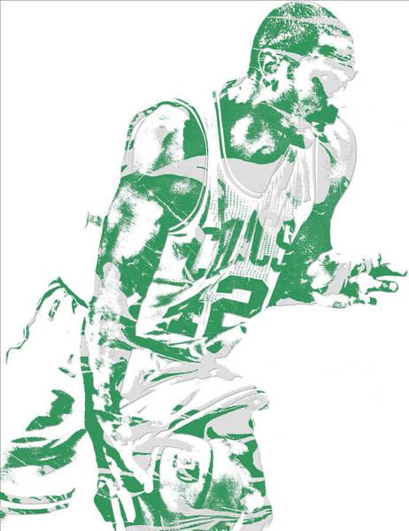 Celtic Mixed Media - Al Horford Boston Celtics Pixel Art 5 by Joe Hamilton