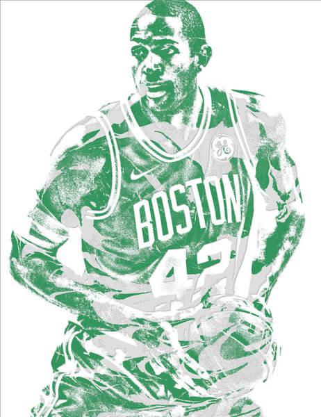 Celtic Mixed Media - Al Horford Boston Celtics Pixel Art 6 by Joe Hamilton