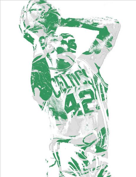 Celtic Mixed Media - Al Horford Boston Celtics Pixel Art 8 by Joe Hamilton