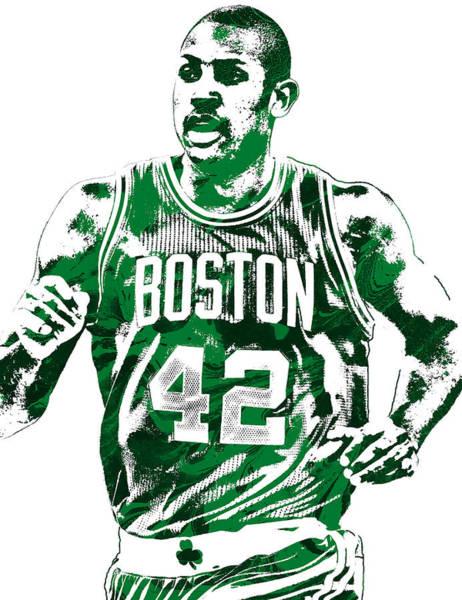 Celtic Mixed Media - Al Horford Boston Celtics Pixel Art by Joe Hamilton