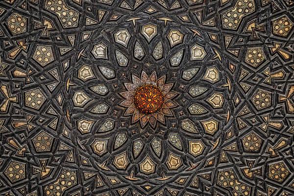 Photograph - Al Ishaqi Wood Panel by Nigel Fletcher-Jones