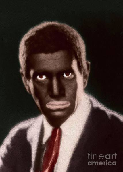 Wall Art - Painting - Al Jolson, Vintage Entertainer by John Springfield