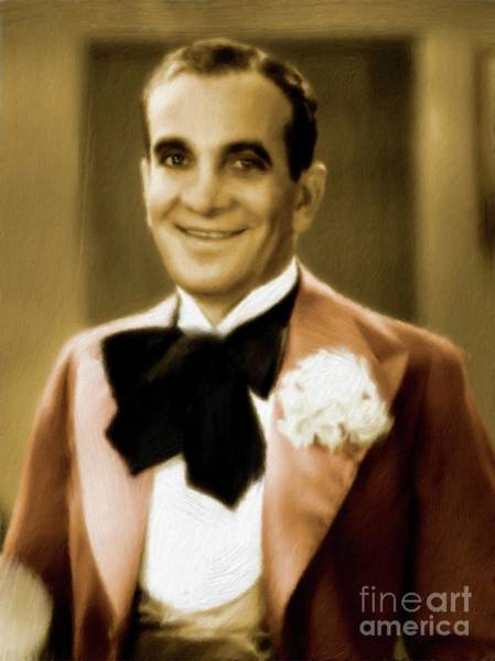 Wall Art - Painting - Al Jolson, Vintage Entertainer by Mary Bassett