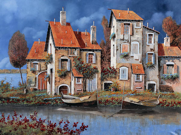 Lake House Painting - Al Lago by Guido Borelli