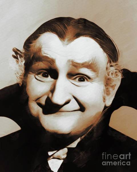 Dracula Painting - Al Lewis, Grandpa Munster by Mary Bassett