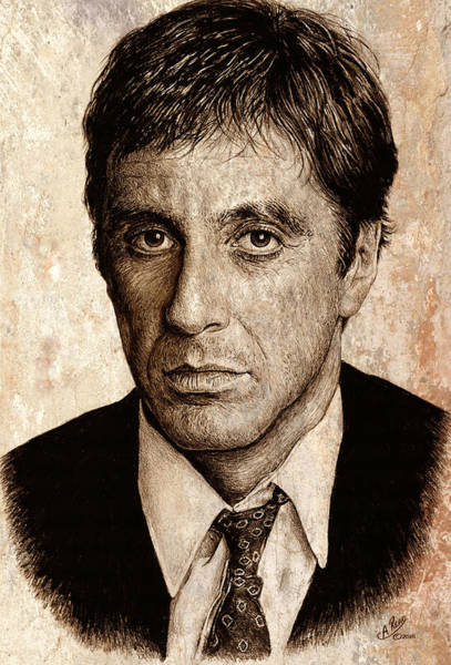 Montana Drawing - Scarface by Andrew Read