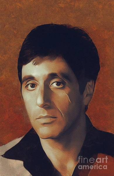 Wall Art - Painting - Al Pacino, Hollywood Legend by Mary Bassett