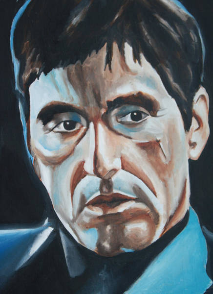 Wall Art - Painting - Al Pacino Scarface Portrait by Mikayla Ziegler