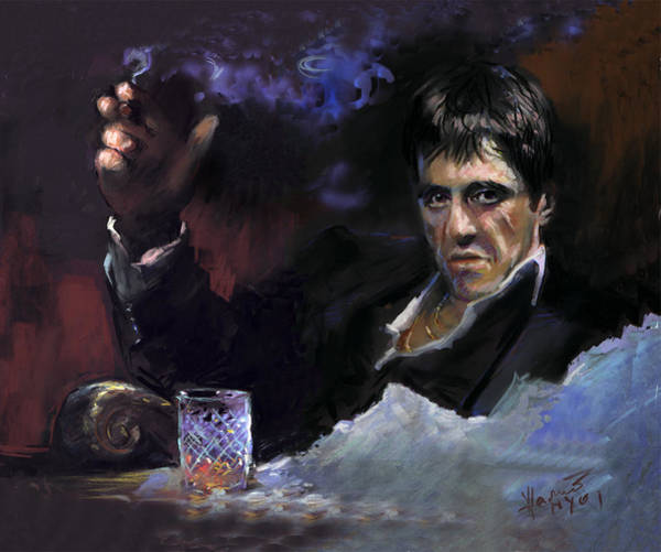 Wise Wall Art - Pastel - Al Pacino Snow by Ylli Haruni