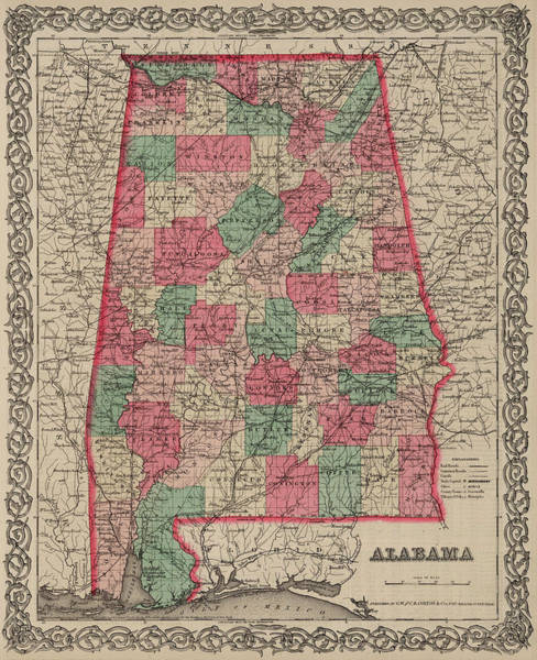Wall Art - Painting - Alabama by Colton