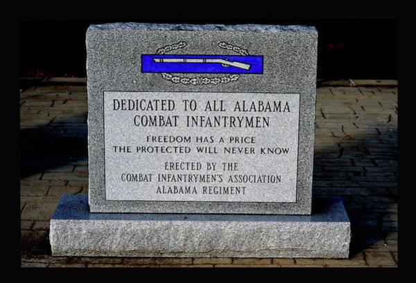 Photograph - Alabama Combat Infantrymen Monument by Lesa Fine