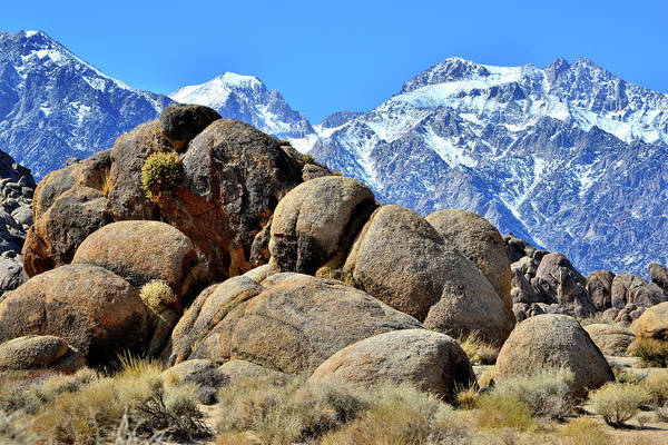 Photograph - Alabama Hills And The Eastern Sierra Nevadas by Ray Mathis