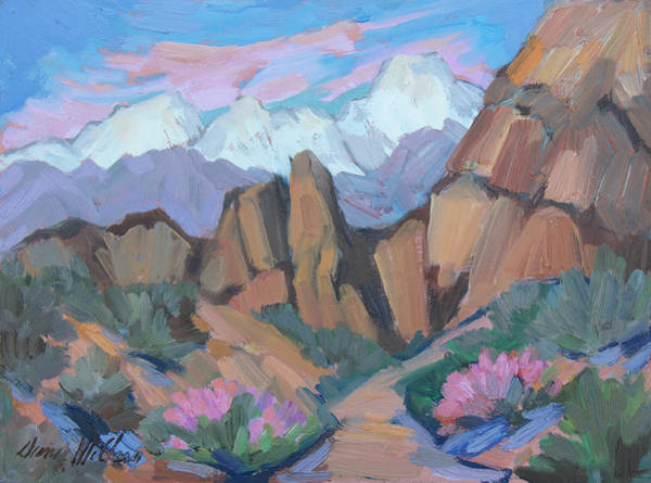 Alabama Hills Painting - Alabama Hills - Lone Pine by Diane McClary