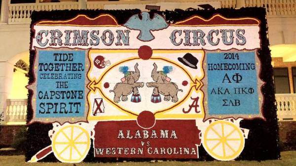 Photograph - Alabama Homecoming Decoration by Kenny Glover
