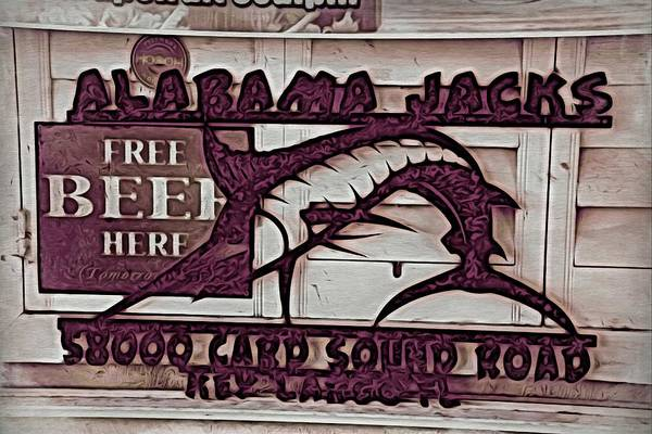 Photograph - Alabama Jacks Free Beer by Alice Gipson