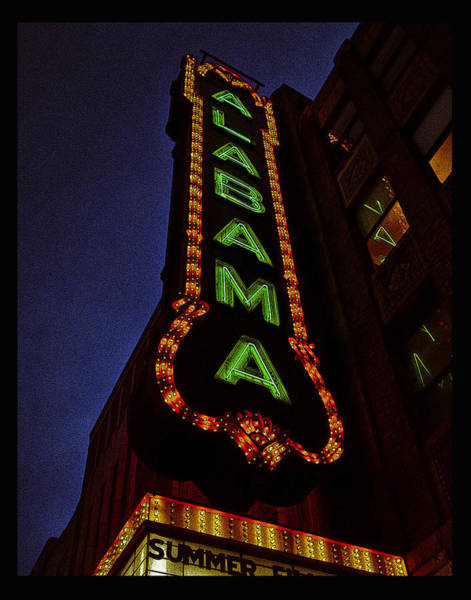 Photograph - Alabama Lights Poster by Just Birmingham