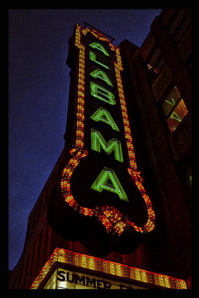 Photograph - Alabama Lights Poster Narrow Format by Just Birmingham