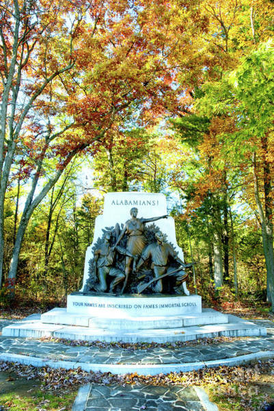 Alabama Monument At Gettysburg Art Print