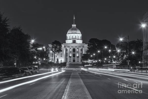 Photograph - Alabama State Capitol At Twilight II by Clarence Holmes