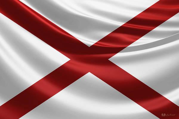 Digital Art - Alabama State Flag by Serge Averbukh