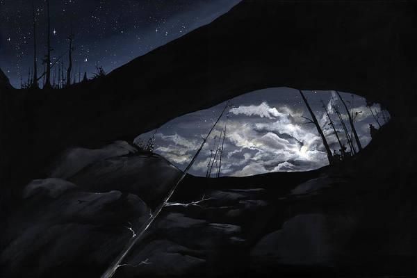 Alabama Painting - Alabama The Stars Fell by K Llamas
