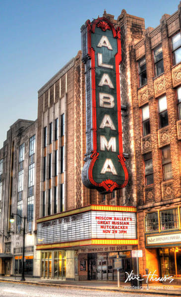 Photograph - Alabama Theater In Birmingham  by Michael Thomas
