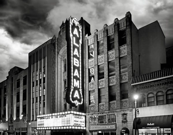Brighter Side Photograph - Alabama Theatre by Steven Michael