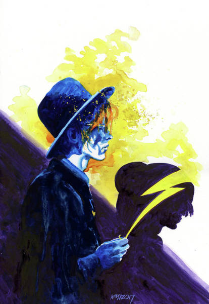 David Bowie Painting - Aladdinshade by Ken Meyer