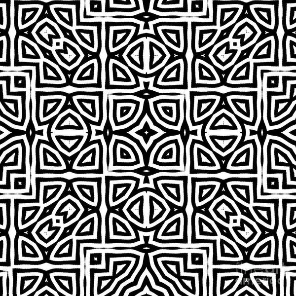 Wall Art - Painting - Alhambra Black by Mindy Sommers