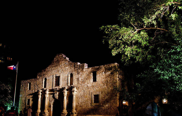 Wall Art - Photograph - Alamo At Night by Patrick  Flynn