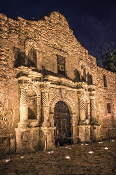 San-antonio Photograph - Alamo Door Painterly by Joan Carroll