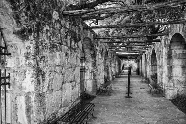 Roman Fort Photograph - Alamo Mission Walkway by Jurgen Lorenzen