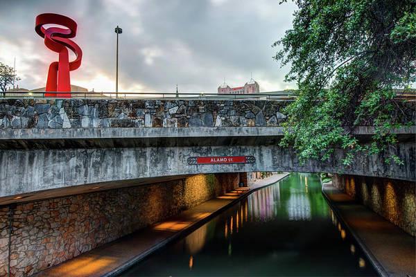 Photograph - Alamo Street Over The Riverwalk - San Antonio by Gregory Ballos